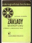 Základy mikrofilmu a poznaty z mikrofilmové praxe - A. Svoboda - náhled