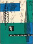Architektura ČSSR, ročník XX., č. 9, rok 1961 - náhled