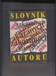 Slovník zakázaných autorů 1948-1980 - náhled