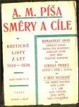 Směry a cíle. Kritické listy z let 1924 - 1926 - náhled