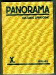Panorama (Kulturní zpravodaj). Ročník X. - náhled