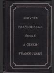 Slovník francouzsko-český a česko-francouzský - náhled