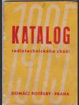 Katalog radiotechnického zboží 1965 - radiopřijímače, magnetofony, gramofony, televizory, radiosoučástky, měřící přístroje - náhled