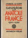 Gespräche mit Anatole France 1914 - 1924 - náhled