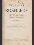 Vojenské rozhledy - revue militaire tchécoslovaque - náhled
