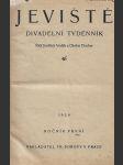 Jeviště. Divadelní týdenník Roč.1. č.1-52 - náhled