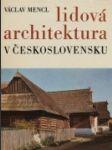 Lidová architektura v Československu - náhled