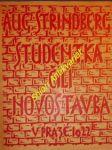 Studentka čili novostavba - strindberg august - náhled