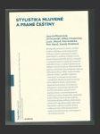 Stylistika mluvené a psané češtiny - náhled