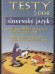 Testy 2008 - Slovenský jazyk - náhled