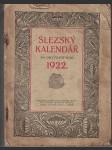 Slezský kalendář na rok 1922 - náhled