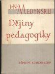 Dějiny padagogiky - náhľad