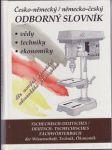 Česko-německý / německo-český odborný slovník + CD - náhled