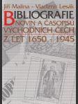 Bibliografie novin a časopisů Východních Čech z let 1650-1945 - náhled