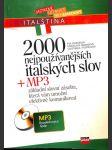 2000 nejpoužívanějších italských slov - náhled