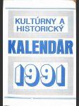 Kultúrny a historický kalendár 1991 - náhled