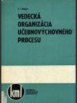 Vedecká organizácia učebnovýchovného procesu - náhled