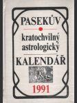 Pasekův kratochvilný astrologický kalendář 1991 - náhled