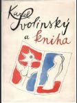 Karel Svolinský a kniha (väčší formát) - náhled