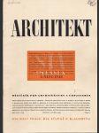 Architekt 4/1948 - náhled