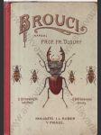 Brouci (Soustavný popis nejdůležitějších českých brouků s návodem, kterak zakládati sbírky broukův) - náhled