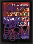 Měření vsystémech managementu jakosti - náhled