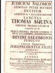Oslavná řeč ze sv. Jiljí na Tomáše Akvinského 1737 - náhled