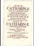Oslavná řeč ze Salvátora na sv. Kateřinu Egyp.1735 - náhled