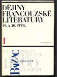 Dějiny francouzské literatury 19. a 20. století 1-3 : Vysokošk. učebnice. 1789-1870 - náhled