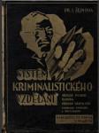 Systém kriminalistického vzdělání (veľký formát) - náhled