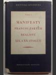 Manifesty francouzských realistů XIX. a XX.století - náhled