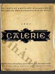 GALERIE - Periodický umělecký dvouměsíčník lidový 1924 - náhled