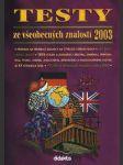 Testy ze všeobecných znalostí 2003 - na čtyřleté sš - náhled