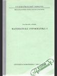 Matematická informatika I. - náhled