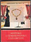 Sovětská a československá vyznamenání - náhled