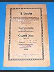 Varhany, Harmonium : 12 Lieder , Op.34 - Joos Oswlad / noty - náhled