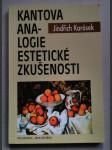Kantova analogie estetické zkušenosti. Systematická a argumentačně analytická studie ke Kantově estetice - náhled