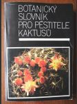 Botanický slovník pro pěstitele kaktusů - náhled