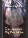 Pravda a báseň Evy Kantůrkové - náhled