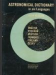 Astronomical dictionary in six Languages - náhled