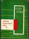 Přehled nejnovějších dějin II. 1929-1939 - náhled
