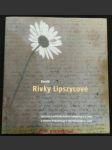 Deník Rivky Lipszycové : nalezený v roce 1945 Rudou armádou v Osvětimi, poprvé vydaný v roce 2014 v San Francisku - náhled