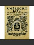Umělecký list, časopis, ročník I. (1919) - náhled