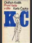 První řada v díle Karla Čapka - náhled