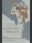 Slovenské pohľady 1933 č. 1.-12. roč. 49. - náhled