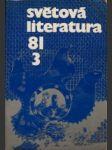 Světová literatura 1981 č.3. roč. XXVI. - náhled