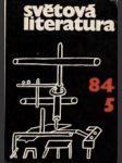 Světová literatura 1984 č.5. roč. XXIX. - náhled