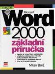 Microsoft Word 2000 CZ.Základní příručka - náhled