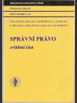 Správní právo - zvláštní část - kol. autorů - náhled