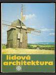 Lidová architektura - náhled